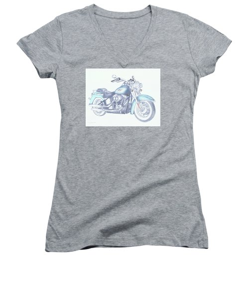 2015 Softail Women's V-Neck (Athletic Fit)
