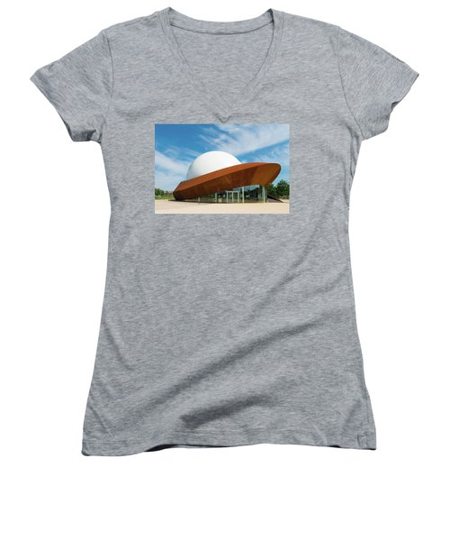 Women's V-Neck T-Shirt (Junior Cut) featuring the photograph 3d Theater by Hans Engbers