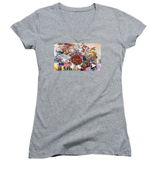 9/11 Memorial Women's V-Neck T-Shirt