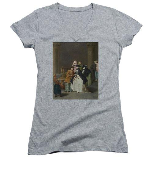 A Fortune Teller At Venice Women's V-Neck T-Shirt