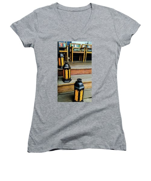 A Wonderful Place To Sit And Read Women's V-Neck (Athletic Fit)