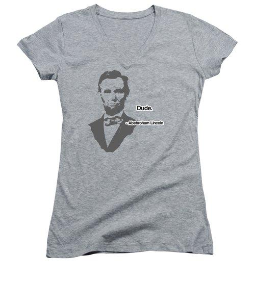 Abebroham Lincoln Women's V-Neck T-Shirt