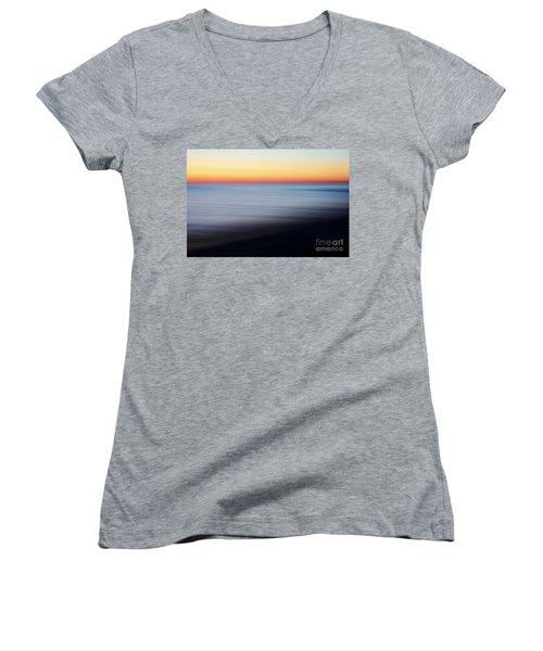 Abstract Sky Women's V-Neck T-Shirt (Junior Cut) by Tony Cordoza