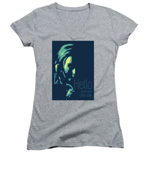 Adele Women's V-Neck T-Shirt (Junior Cut) by Greatom London