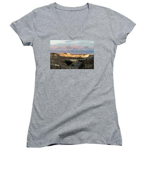 After Rain Colors 02 Women's V-Neck T-Shirt (Junior Cut) by Arik Baltinester
