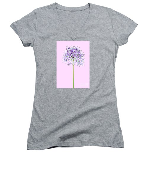 Allium Women's V-Neck T-Shirt (Junior Cut) by Tony Cordoza