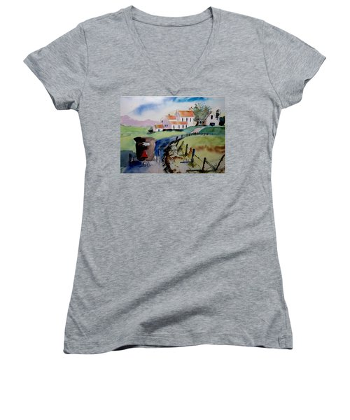 Amish Buggy Ride Women's V-Neck (Athletic Fit)