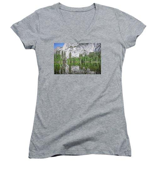 Amplitude Women's V-Neck T-Shirt (Junior Cut) by Ryan Weddle