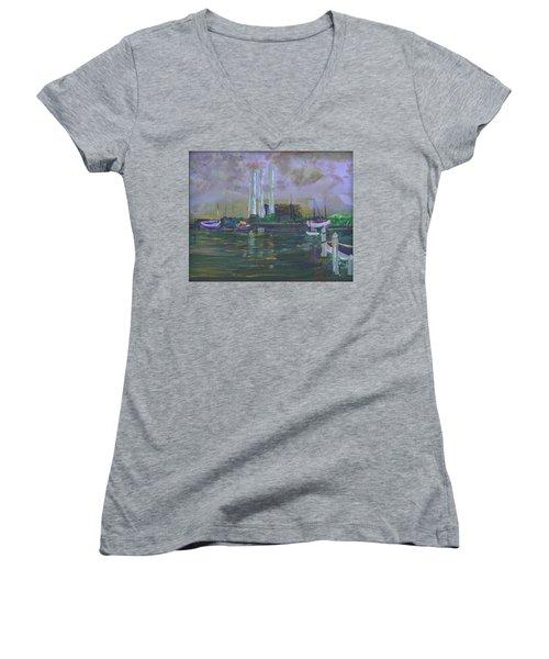 An Ancient Power Women's V-Neck T-Shirt (Junior Cut)