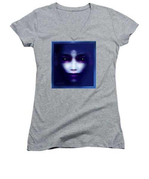 Angel  Blue Women's V-Neck