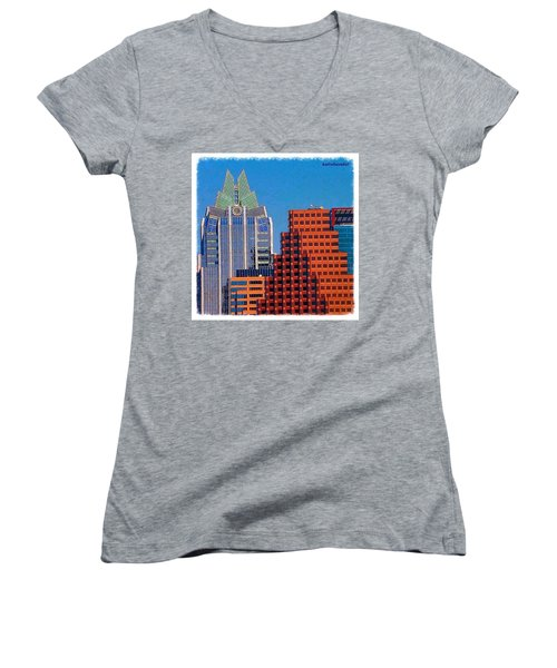 Another #gorgeous #bluesky Day In Women's V-Neck (Athletic Fit)
