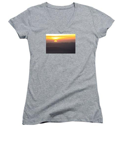 Appalachian Sunrise Women's V-Neck T-Shirt