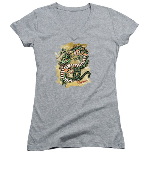 Asian Dragon Women's V-Neck T-Shirt