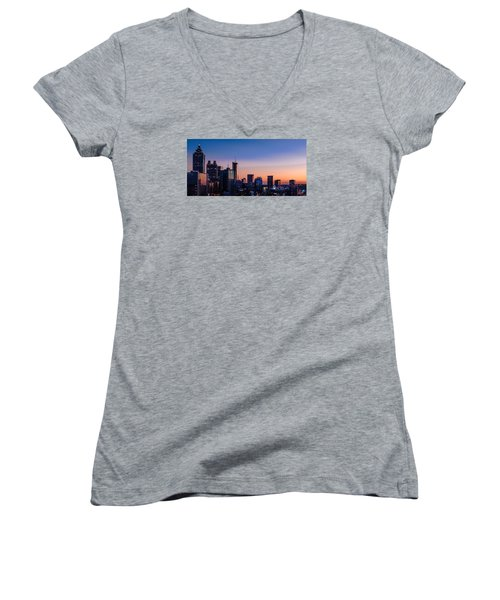 Atlanta Sunset Women's V-Neck