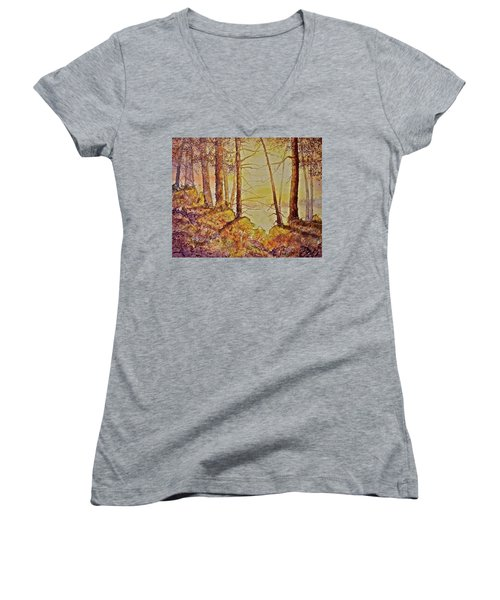 Autumn Glow Women's V-Neck (Athletic Fit)