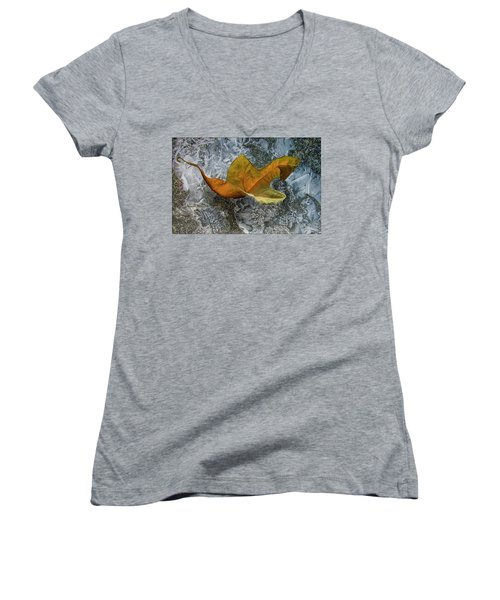 Autumn Leaf Women's V-Neck (Athletic Fit)