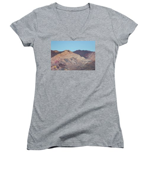 Women's V-Neck featuring the photograph Avawatz Mountain by Jim Thompson
