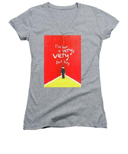 Bad Boy Greeting Card Women's V-Neck T-Shirt