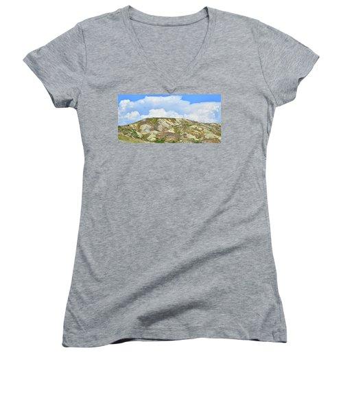 Badlands In Wyoming Women's V-Neck