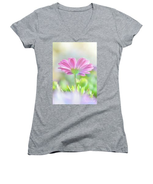 Beautiful Daisy Flower Women's V-Neck T-Shirt