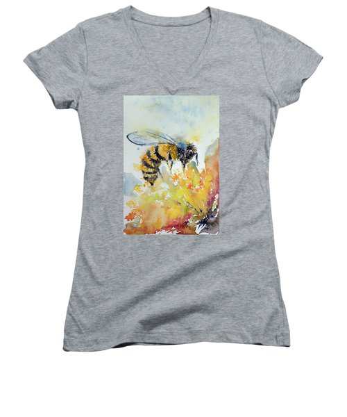 Bee Women's V-Neck (Athletic Fit)