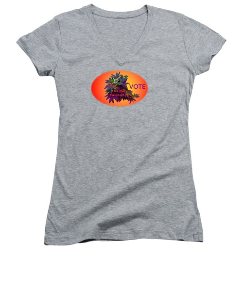 Bee Part Of The Buzz Women's V-Neck T-Shirt (Junior Cut) by Mike Breau