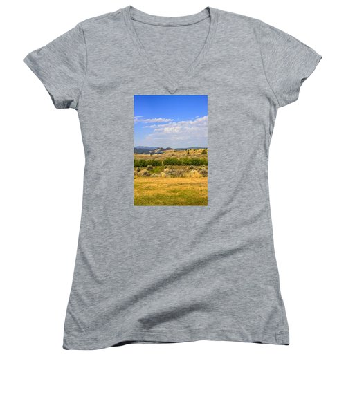 Big Sky Montana Women's V-Neck T-Shirt