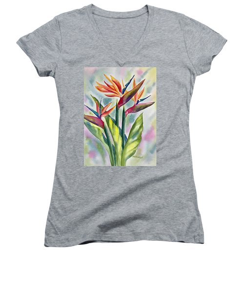 Bird Of Paradise Flowers Women's V-Neck