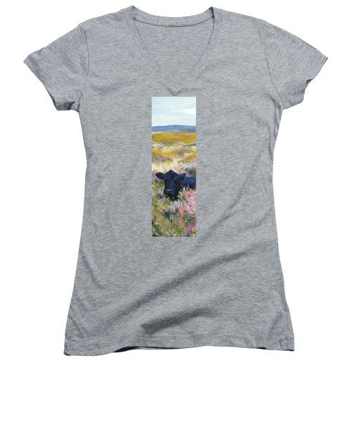 Black Cow Dartmoor Women's V-Neck T-Shirt