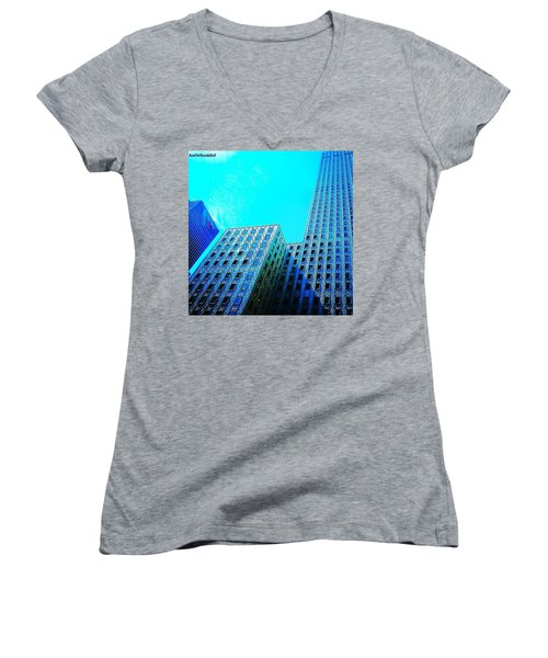 #blue #buildings And #bluesky On A Women's V-Neck