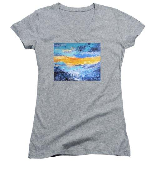 Blue Sunset Women's V-Neck