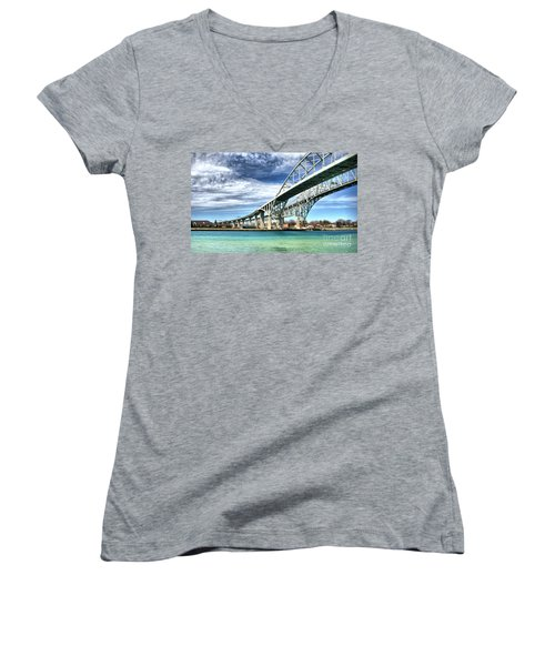 Blue Water Bridge Women's V-Neck T-Shirt