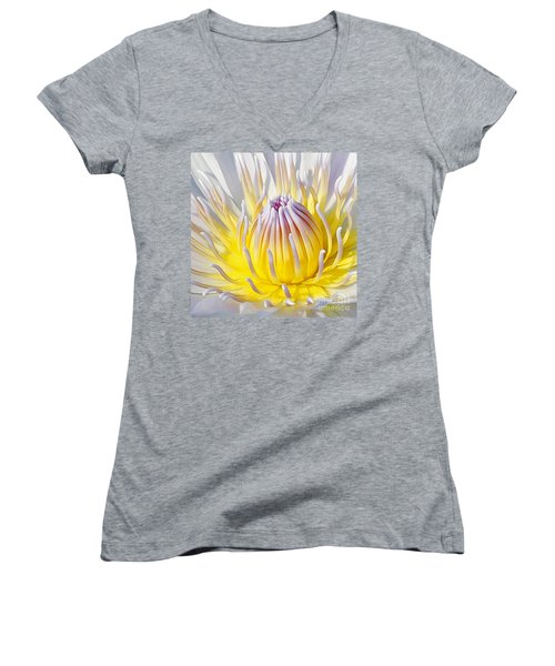 Blue Water Lily Women's V-Neck