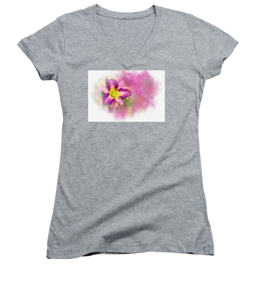 Bright Lily Women's V-Neck