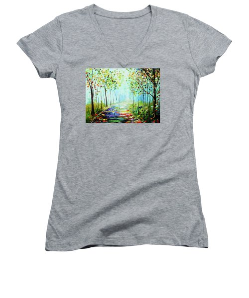 Bright Path Women's V-Neck