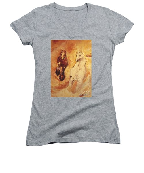 Bringers Of The Dawn Section Of Mural Women's V-Neck T-Shirt