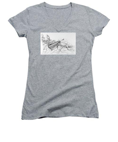 Brown Trout Pencil Study Women's V-Neck T-Shirt
