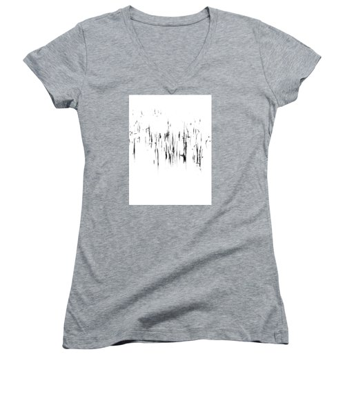 Brushstrokes Women's V-Neck T-Shirt (Junior Cut) by Tim Good