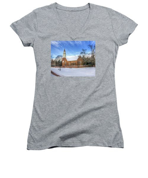 Bruton Parish In Winter II Women's V-Neck (Athletic Fit)