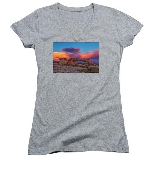Burning Skies Women's V-Neck