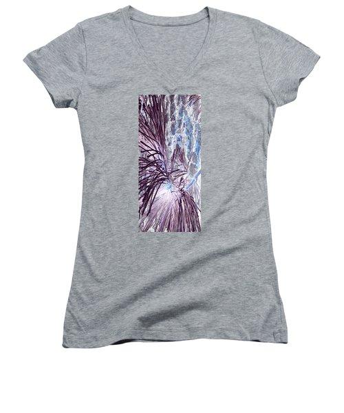 Women's V-Neck T-Shirt (Junior Cut) featuring the photograph Burst by Jamie Lynn