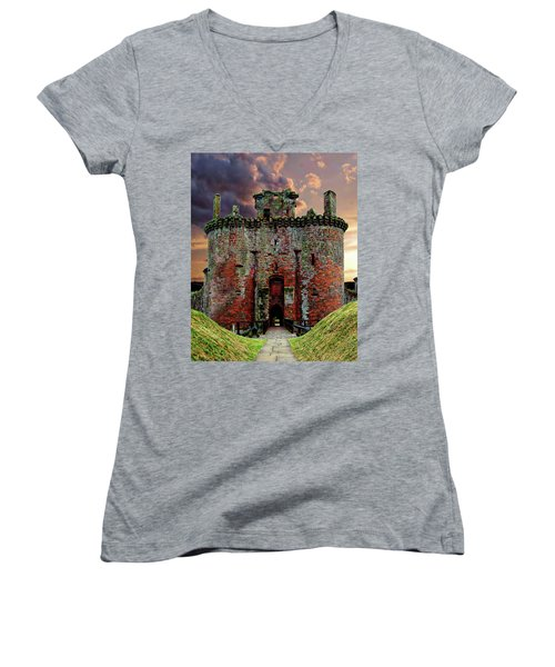 Caerlaverock Castle Women's V-Neck