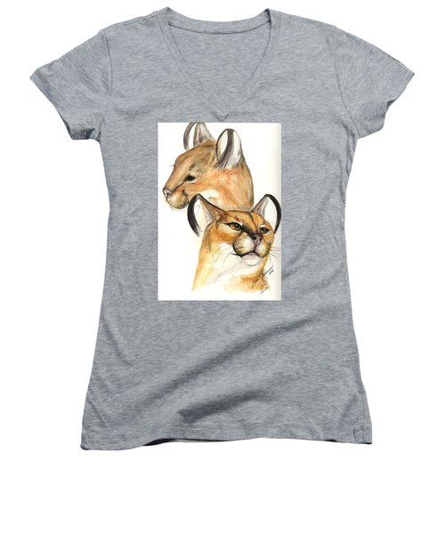 Caracal Women's V-Neck (Athletic Fit)