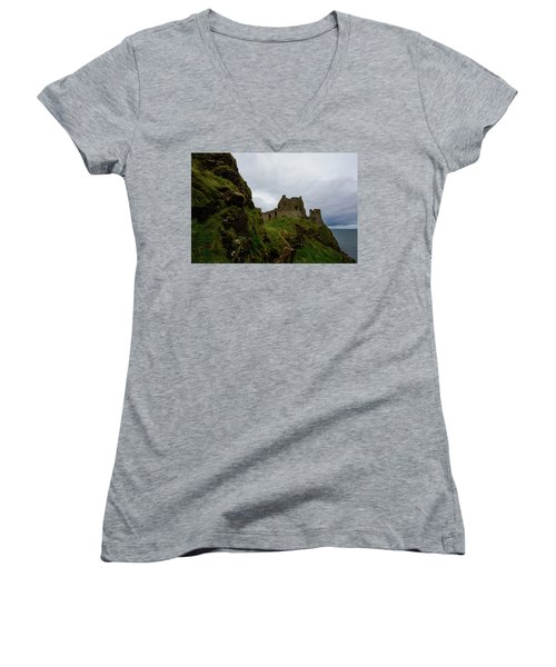 Castle By The Sea Women's V-Neck T-Shirt