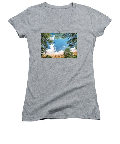 Cedars Of Lebanon Women's V-Neck T-Shirt