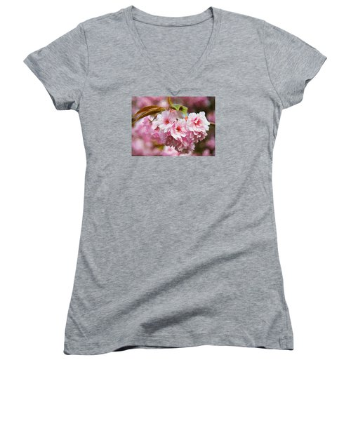 Cherry Blossom Women's V-Neck
