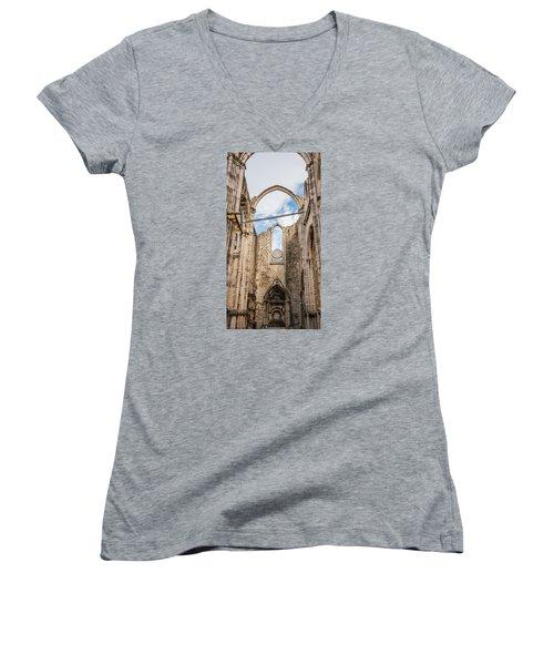 Church At Carmo Convent Women's V-Neck T-Shirt