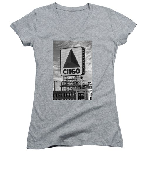 Citgo Sign Kenmore Square Boston Women's V-Neck