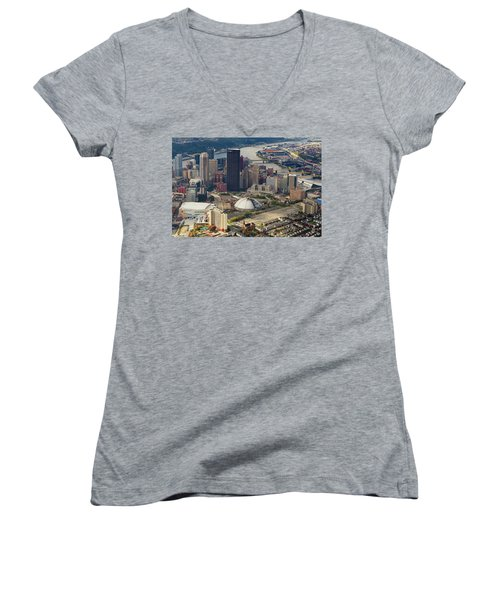 City Of Champions  Women's V-Neck (Athletic Fit)