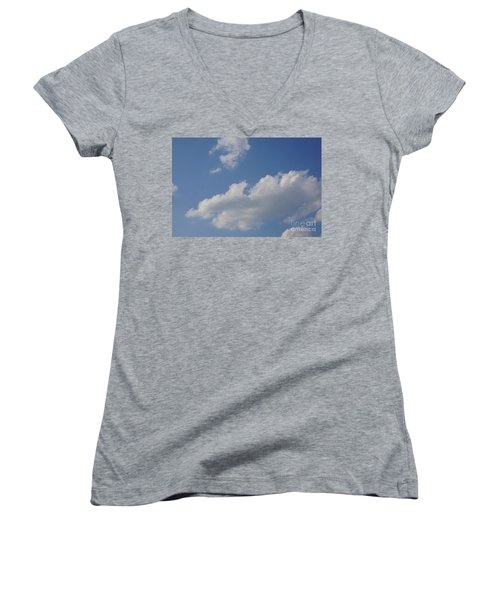 Clouds 15 Women's V-Neck T-Shirt (Junior Cut) by Rod Ismay